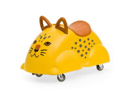 gåbil cute rider leopard gul