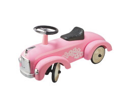 gåbil goki retro speedster rosa