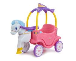 gåbil med häst little tikes princess caret rosa