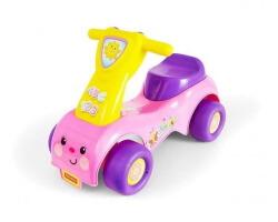 gåbil push´n scoot ride-on sparkbil Rosa
