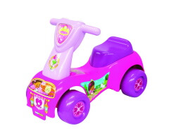 gåbil push and scoot princess ride on car sparkbil fisher price rosa lila