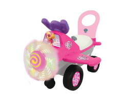 gåbil rosa kiddieland paw patrrol skye's high flying plane