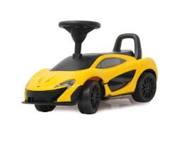 gåbil sparkbil gul mclaren P1