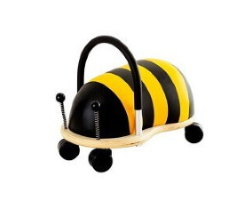 gåbil wheely bug bee humla liten gul svart