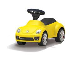gåbil gul vw beetle