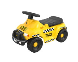 gåbil sparkbil gul taxi toddler