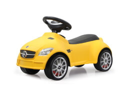 sparkbil gåbil gul mercedes slk55 amg