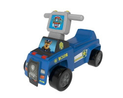 sparkbil push and scoot ride on chase paw patrol blå