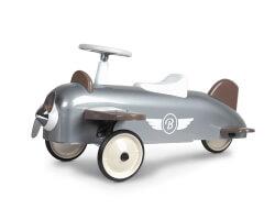 baghera sparkbil plane flygplan silver grått
