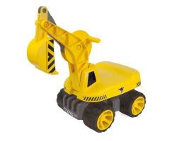 big maxi digger grävmaskin gåbil gul