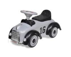 gåbil för barn med handtag retro design grå