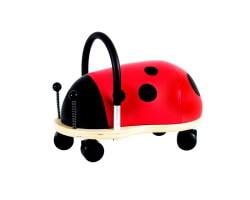 gåbil wheely bug nyckelpiga liten röd
