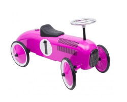 goki gåbil lila retro silvrig ratt