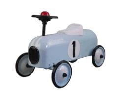 magni gåbil i metall ljusblå horns