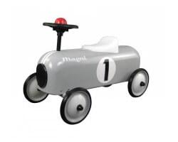 magni gåbil i metall med horn tuta classic racer grå