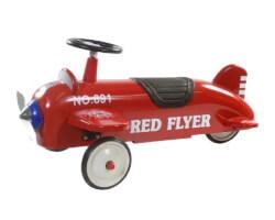 retro roller aeroplane röd