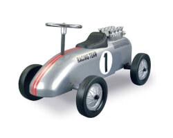 retro roller racing brett silver racer gåbil