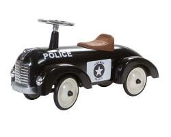 retro roller speedster bobby gåbil polisbil svart