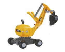 rolly digger caterpillar rolly toys gåbil grävmaskin gul
