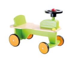 small foot gåbil traktor ride on grön