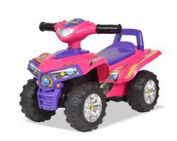 vidaxl åkbil fyrhjuling gåbil med ljud ljus rosa lila