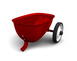 baghera trailer släp röd