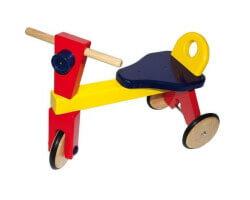 gåbil gåcykel trä trehjuling