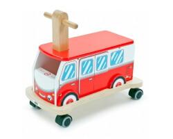 gåbil gåvagn brandbil trä röd