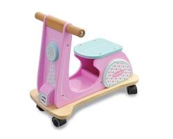gåbil trä indigo jamm rosa scooter