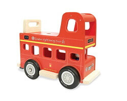 gåbil trä london buss indigo jamm röd