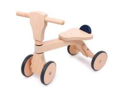 gåbil trä natur sparkcykel