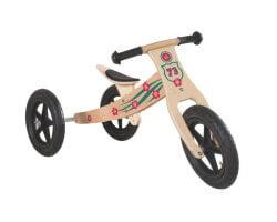 gåbil trä roba trehjuling springcykel 2 in 1