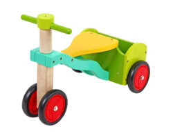 gycykel gåbil trä med tre hjul nils