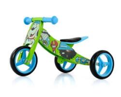trehjuling 2 in 1 hund trä springcykel