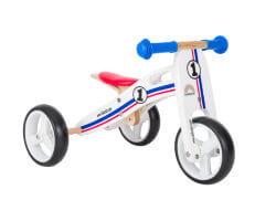 trehjuling trä 2 in 1 mini springcykel rally bikestar