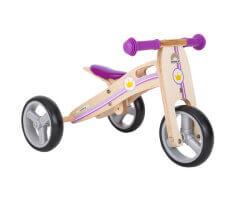trehjuling trä 2 in 1 mini springcykel little princess bikestar
