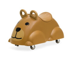 viking toys cute rider björn sparkbil brun