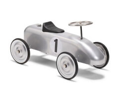 mini speeders gåbil classic no 1 silver