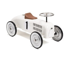 mini speeders gåbil racer - vit